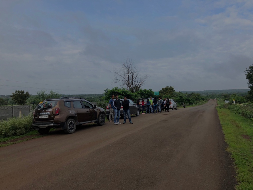Our group heading to Anantagiri Hills