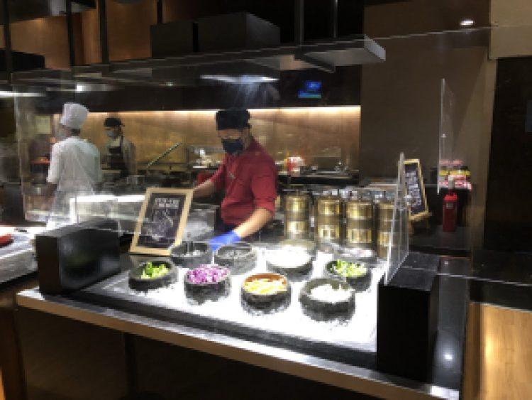 Salad counter at Seasonal Tastes , Westin