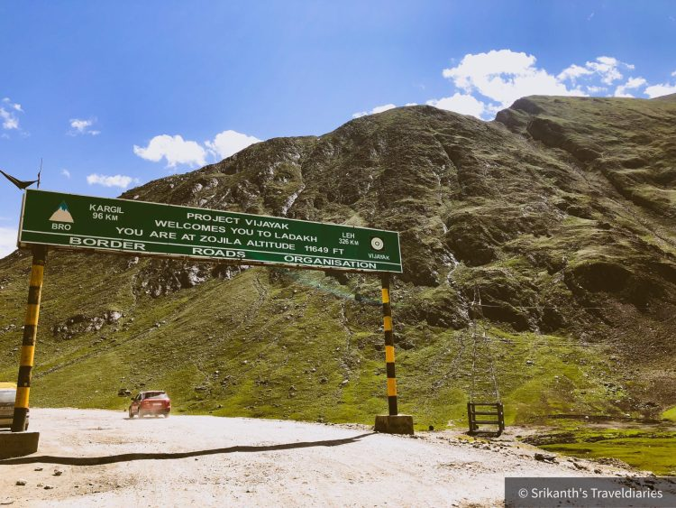 Zozilla Pass as we head to Ladakh Region