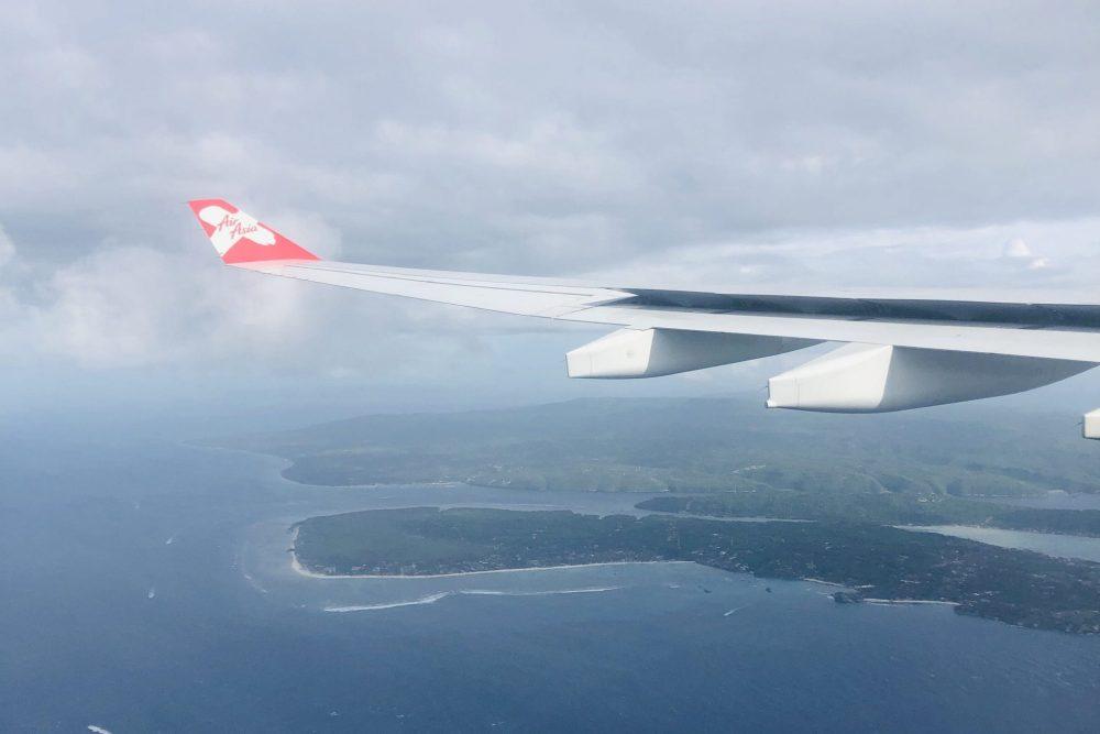 Approaching Denpasar Airport, Bali