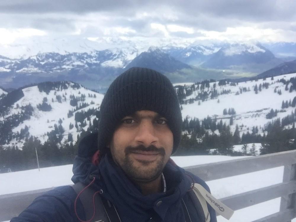 Srikanth's Traveldiaries at Mt. Rigi