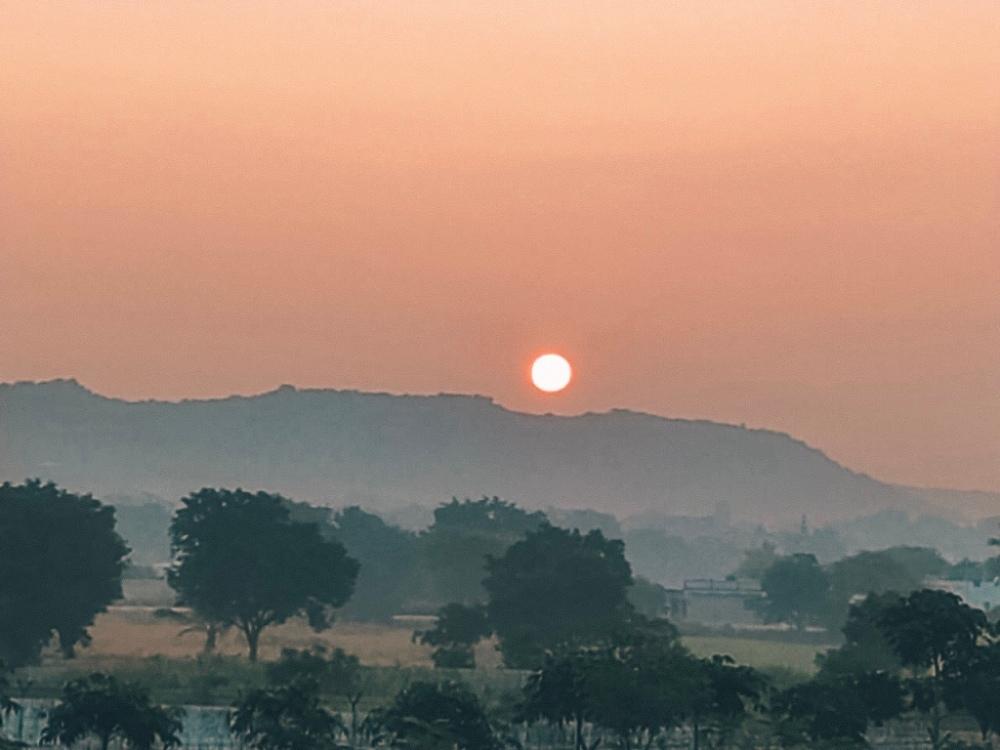 Sunrise over ORR, Hyderabad