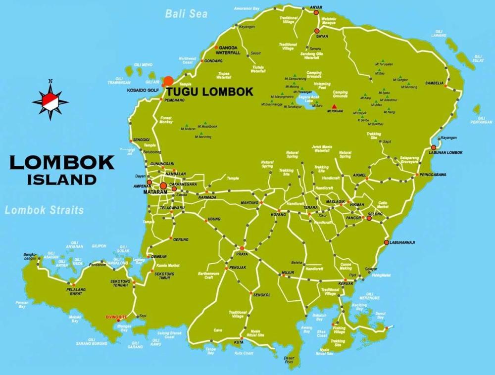 Lombok Province Map